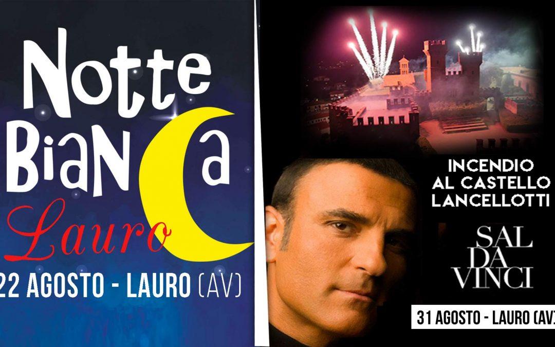 Estate Lauretana 2019, gran finale: apre la Notte Bianca, Battaglia dei Pooh e Sal Da Vinci chiudono